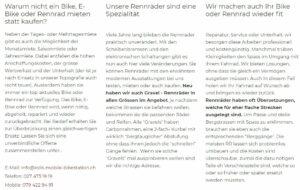 bike mieten wallis